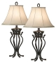 Traditional Set of Two Kathy Ireland Helsinki Palace Table Lamps