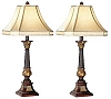 Traditional Set of Two English Bronze Buffet Lamps