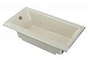 Kohler K-877-S-K4 - Cast Iron Bath with Enameled Apron and Left-Hand Drain